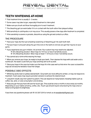 TakeHomeWhitening - Reveal Dental - Cedar Park, Austin, Round Rock, and Leander, Texas